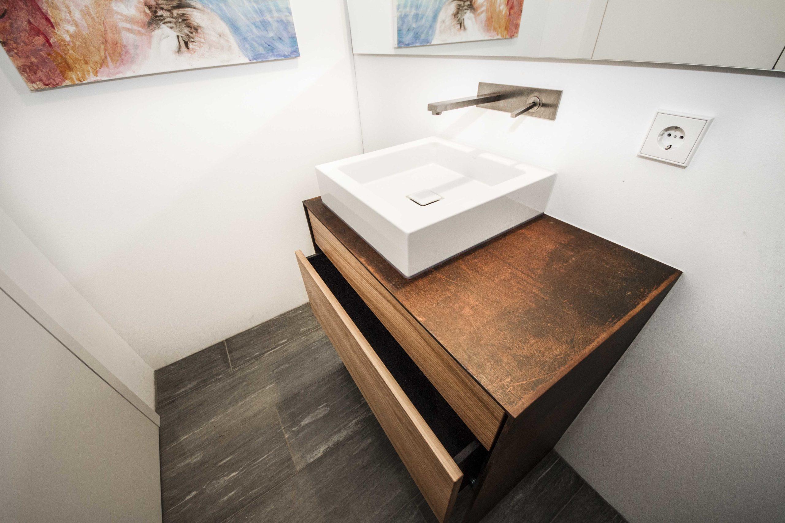 Badezimmermöbel Rüster Corten Bodensee Nonnenhorn